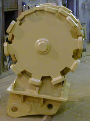 Pad Foot Compaction Wheel