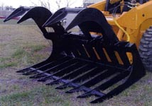 Skid Steer Grapple Rake